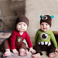 W0317 Baby Clothes Pajamas Newborn Baby Rompers Animal Infant Fleece Long Sleeve Jumpsuits Boys Girl Autumn Winter Clothes