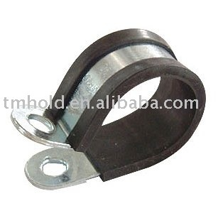galvanized fixing hose clamp with rubber lined