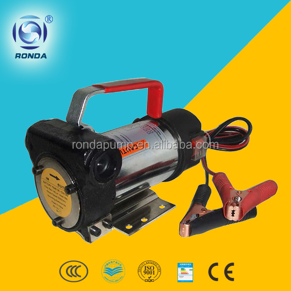 DYB portable fuel transfer pump 24v oil pump DC diesel pump