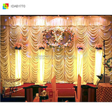wedding backdrop crystal/potable stage backdrop stand/backdrop swag wholesale