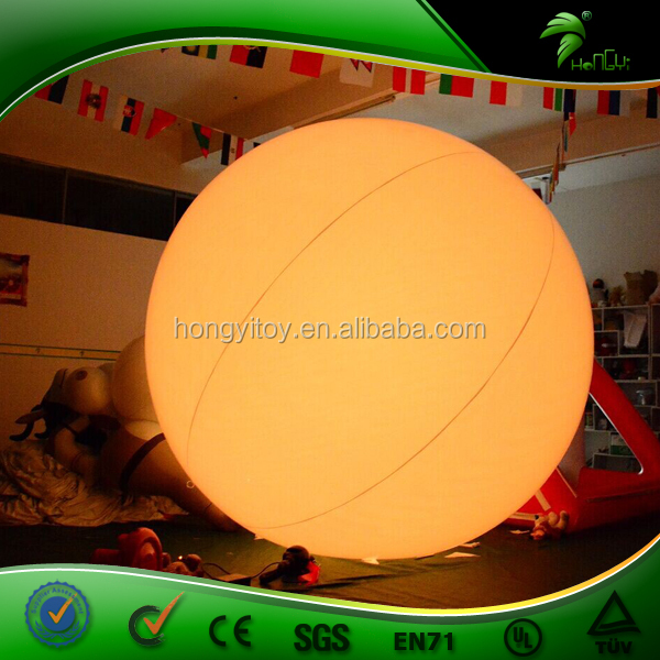 2016 Hot Sale Inflatable LED Balloon / Baloon Type Inflatable Lighting / Helium Inflatable Hanging Lighting Ball