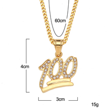 Wholesale Fashion Men Dollar Chain Hip Hop Stainless Steel <strong>Necklace</strong> 100 dollar bill sign pendant mens pendant and chain