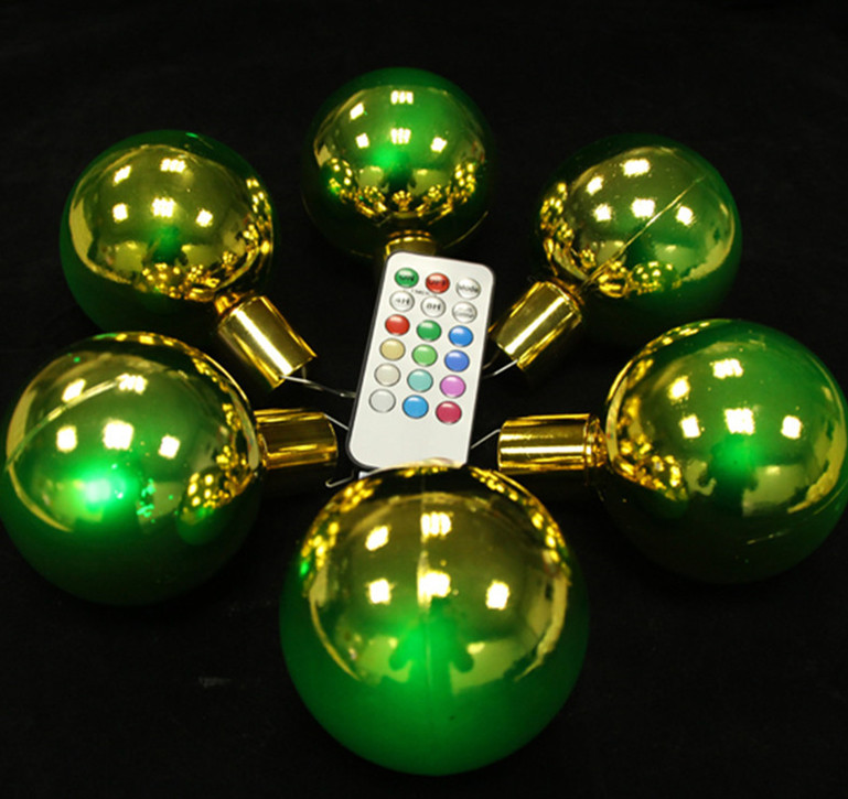 Factory Wholesale remoteled led lights control Colorful christmas Decoration ballm for christmas tree