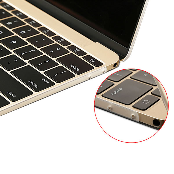 C&T Rubberized Coating Clear Hard Case Cover for Apple MacBook Pro 13.3""