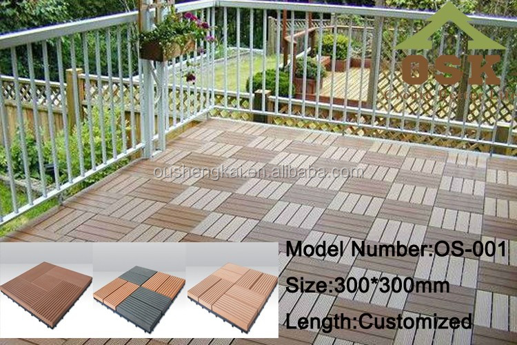 Outdoor WPC DIY decking floor easy for installation