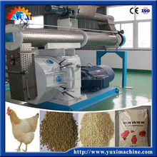 Chicken farm processing feed press plant/animal feed pellet machine/poultry feed making machine with PTO and CE certification
