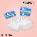 Medical absorbent gauze swabs with different packing ways