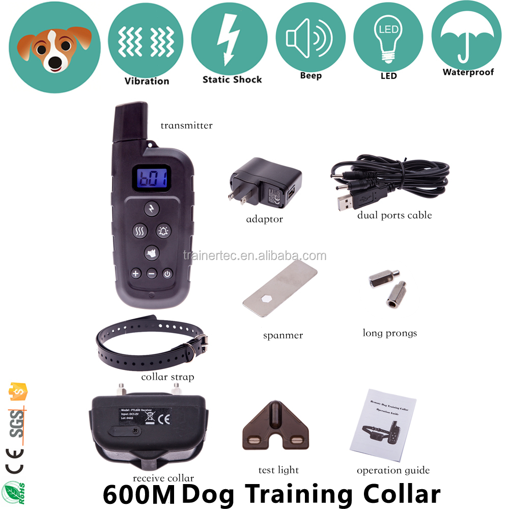 660 Yards Remote Control Dog Training Collar Pet Dog Safety Electric Shock Collar