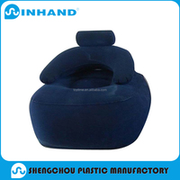 Elegant amd retro single color inflatable sofa for relaxing and sleeping