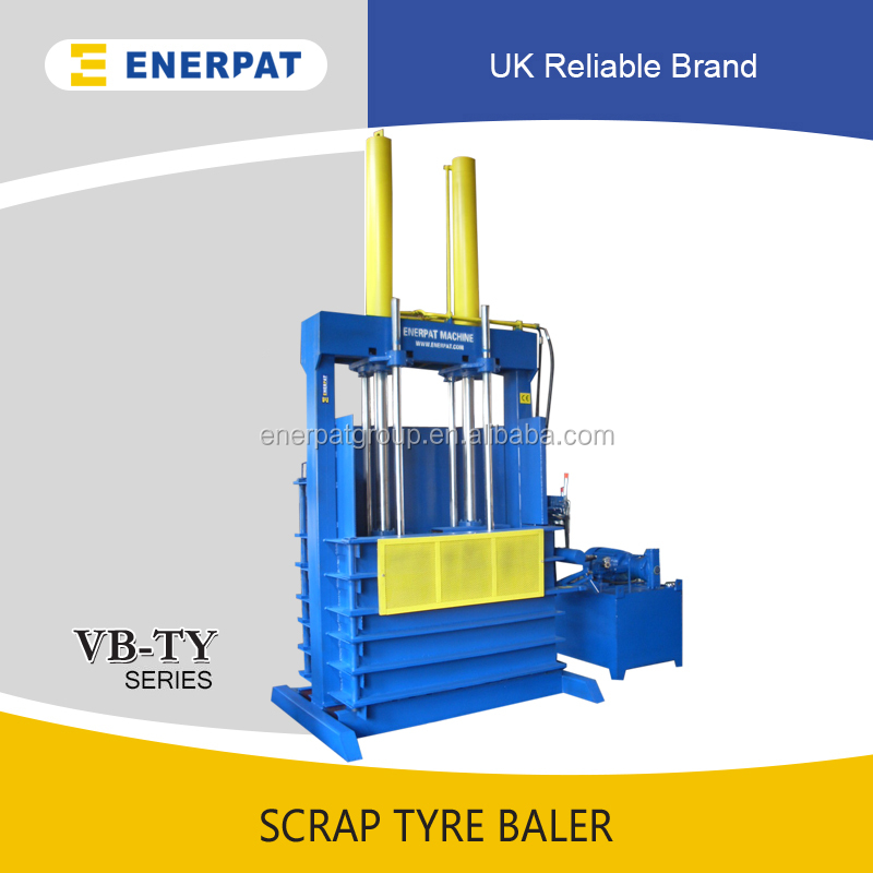 Scrap Tire Baler Machinery With Conveyor Equipments Producing And Pine Straw Baler For Sale