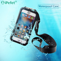 Durable Full Cover Protective High Quality Waterproof Cell Phone Case For Samsung Galaxy J7 For iPhone 6 With Strap