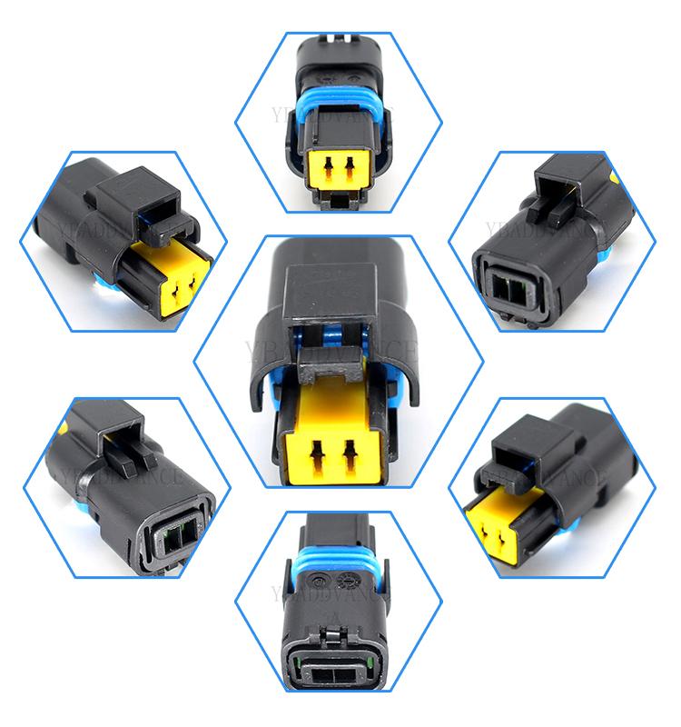 211PC022S0049 2 pin temperature sensor housing socket fci automotive connectors