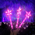 Hot Sale Concert Live Promotion gifts 3pcs AAA battery operated Star shape Led Light Stick