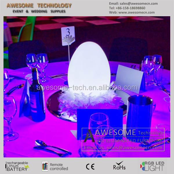 fashionable Bullet shaped led lighted lamp for banquet table decoration