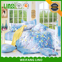 100% cotton printed wholesale bed linen/textile fabric bed sheet/european bedding set