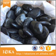 Lighting Washed Black Pebble Landscaping River Stone