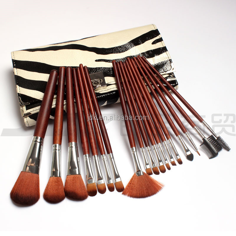 high glass red wood synthetic makeup kit shenzhen factory cosmetic make up kit