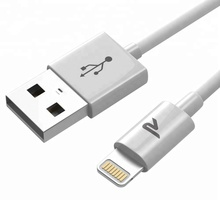 MFI Certified RAMPOW 8 Pin 1M C48 Connector USB Charger for Apple iPhone 5 Charging Cable Mobile Phone Cables