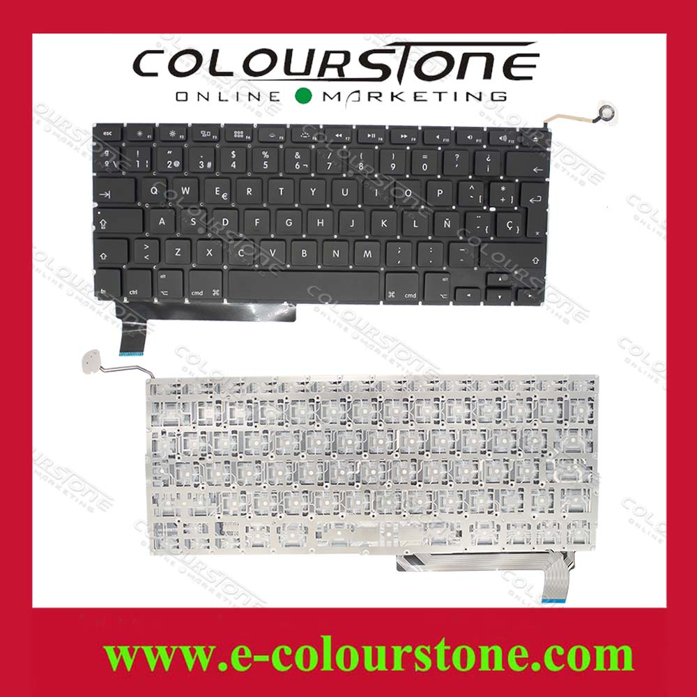 Brand New For Macbook Air A1286 Teclado Notebook SP layout black Spanish laptop keyboard Big enter key