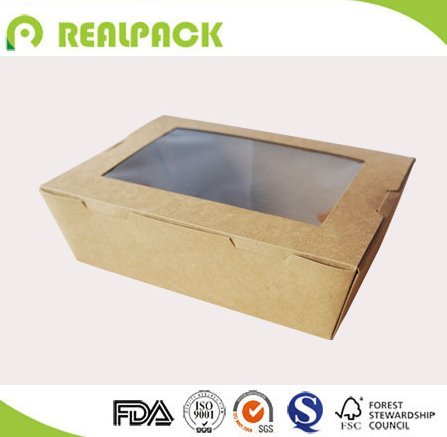 Custom size paper fruit vegetable salad packaging box