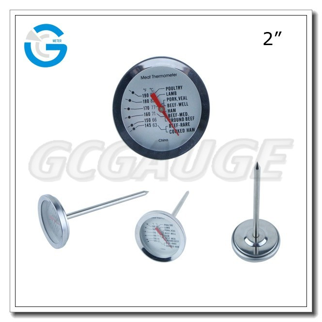 High quality stainless steel food probe meat thermometer