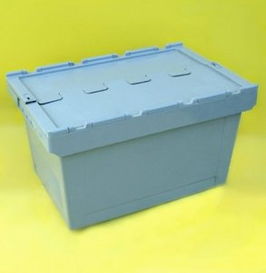 Great heavy duty pp tote box for water/solid contaier/plastic tattached container