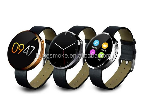 2016 New Design Round Shape Bluetooth Smart Watch Dm360 finger Heart Rate Monitor