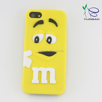 hot selling product M bean phone5 silicone cellular phone case from china supplier