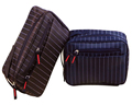 Wholesale waterproof Gift for him travel stripe wash bag waterproof mens toiletry bag