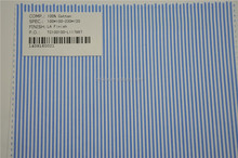 Wholesale high quality pure cotton blue and white stripe woven shirt fabric