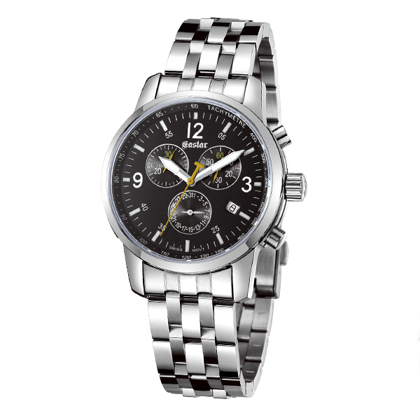 Water resistant stainless steel watch multifunctional mens watch with timer