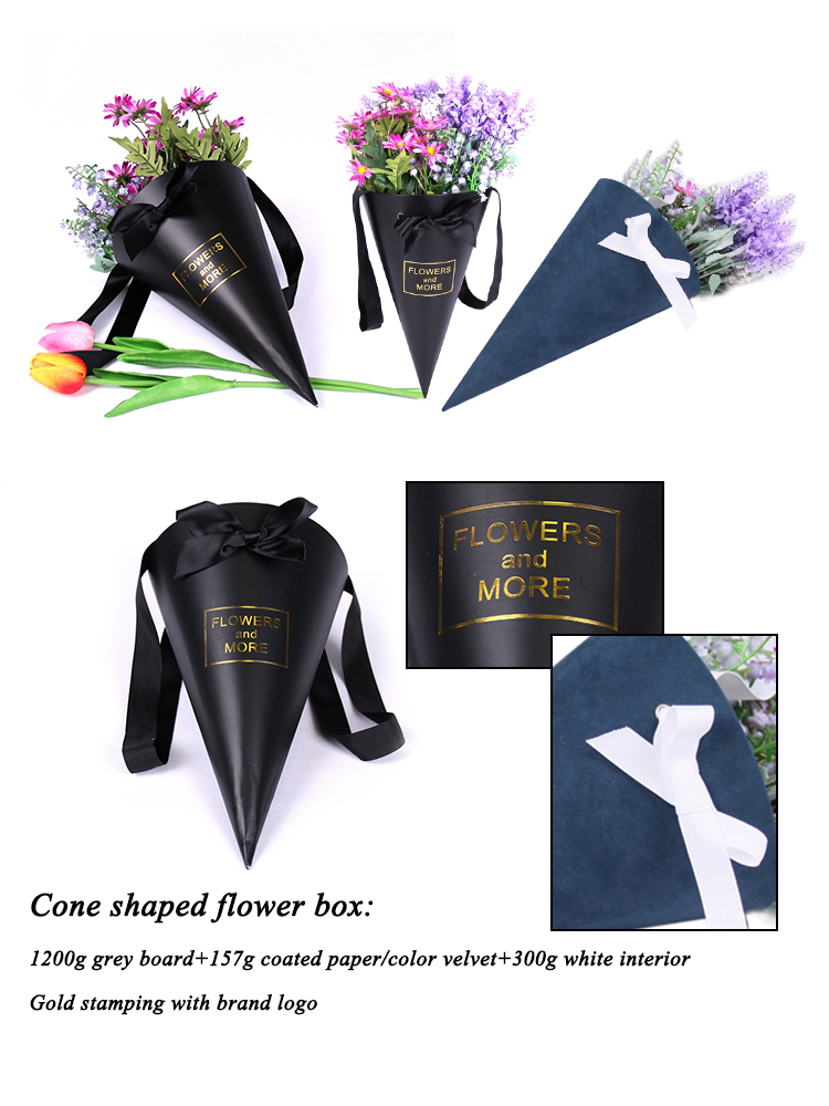 cone shaped flower box