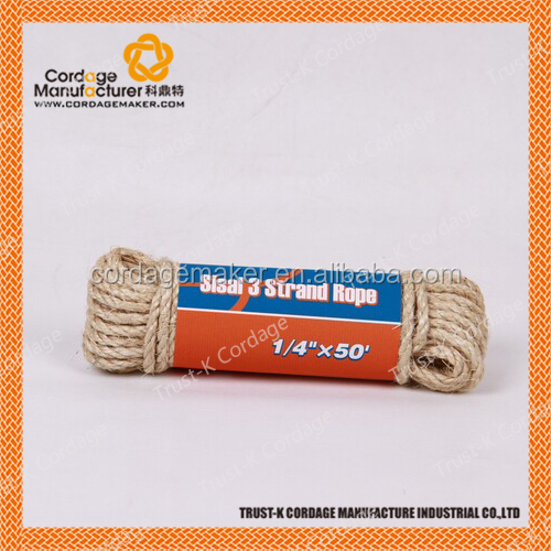 Sisal rope for packing