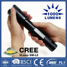 STARLITE Super bright 1000LM Zoom Head beam adjustable high power led flashlight