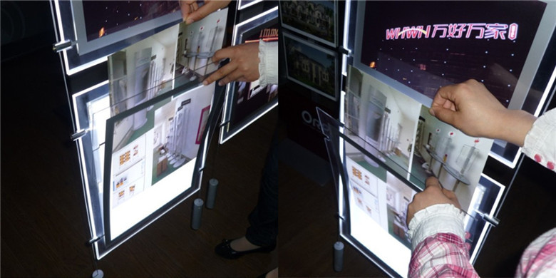 a1a4 magnetic picture frame led light box sign led display advertising board panel