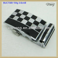 BUC7309 black and silver metal military belt buckles