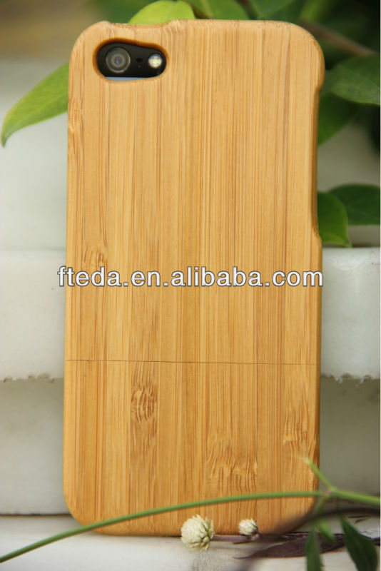 Brand New Bamboo Wood Material Removable Case for iphone 5