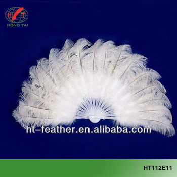 hot sale big dance ostrich feather fan for party