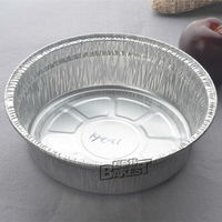 6/10 inch round aluminum foil pan/tin food plate/cup/baking/decorated bottom/flower shaped #D248-936