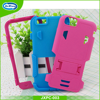 New design shockproof rugged hybrid rubber hard back cover case with stand for iPhone 6