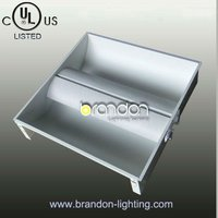 Decorative suspended ceiling 600x600mm recessed troffer led panel light housing, led decorative ceiling light panel