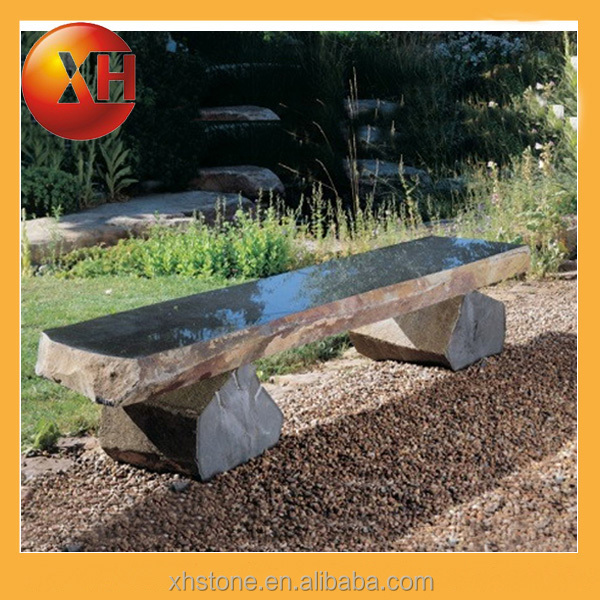 Outdoor stone park bench parts with cheap prices for garden furniture