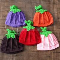 Halloween pumpkin hat hand crochet pumpkin hat for babies