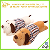 Lovely design cartoon dog shape soft pillow plush dog toy with clothes