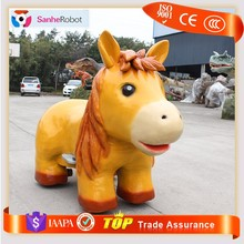 Manufacturer Sale Zoo Children Playground Mini coin operated horse ride