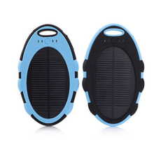 4000mAh waterproof mini solar power bank charger with keyring