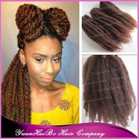 "Stock! 6pcs/lot 20"" fold #33 kinky twist synthetic marley braid hair can bun it up"