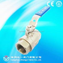 1000 wog lever handle 3 pc thread end ball valve