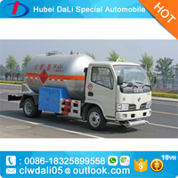 Hot Hot 5CBM 4*2 DFAC Dongfeng propane gas tanker truck LPG tank truck for sale