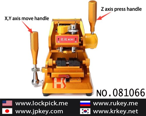 Top best vertical milling dual purpose key cutting machine for A6 English NC flat 081046